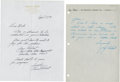 Golf Collectibles:Autographs, 1980's-90's Jay & Lionel Hebert Handwritten Signed Letters Lotof 2....