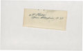 "Golf Collectibles:Autographs, 1935 Alfred ""Alf"" Perry Signed Cut Signature...."