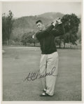 Golf Collectibles:Autographs, 1940's Henry Picard Signed Photograph....