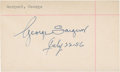 Golf Collectibles:Autographs, 1956 George Sargent Signed Index Card....