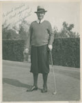 Golf Collectibles:Autographs, 1920's Macdonald Smith Signed Photograph....
