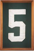 Football Collectibles:Uniforms, Circa 1960's Paul Hornung Game Worn Framed Green Bay Packers Jersey Section....