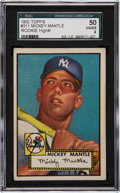 Baseball Cards:Singles (1950-1959), 1952 Topps Mickey Mantle #311 SGC 50 VG/EX 4....