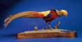 Zoology:Taxidermy, GOLDEN PHEASANT. ...