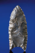 Paleolithic Artifacts:Arrowheads & Paleo Points, BLACK CLOVIS POINT. ...