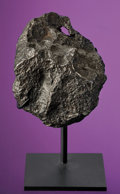 Meteorites:Irons, CAMPO DEL CIELO - FIST-SIZED COMPLETE METEORITE WITH NATURALLY FORMED HOLE. ...