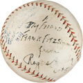 Autographs:Baseballs, 1928 Rogers Hornsby Single Signed Baseball....