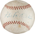 "Autographs:Index Cards, Circa 1927 ""Babe"" Ruth Single Signed Baseball...."