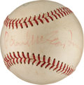 Autographs:Baseballs, 1966 The Beatles Signed Baseball from Candlestick Park Concert. ...