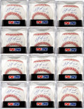 Autographs:Baseballs, 2000's Carl Yastrzemski Single Signed Baseballs Lot of 12, PSA Mint9....