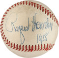 Autographs:Baseballs, 1955 Rogers Hornsby Single Signed Baseball....