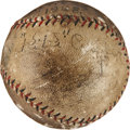 Autographs:Baseballs, 1928 Ki Ki Cuyler Single Signed & Game Used Baseball....
