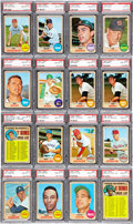 Baseball Cards:Lots, 1968 Topps Baseball PSA Gem Mint 10 Collection (16)....