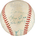 Autographs:Baseballs, 1940 American League All-Star Team Signed Baseball....