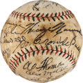 Autographs:Baseballs, 1933 Washington Senators Team Signed Baseball....