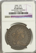 Early Dollars, 1800 $1 --Improperly Cleaned--NGC. VF Details....