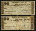 Obsoletes By State:Maryland, Rock Difficult, MD- J. Noble Nisbet 50¢ April 16, 1838 Shank UNL. ... (Total: 2 notes)
