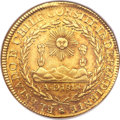 Chile, Chile: Republic gold 8 Escudos 1820-FD,...