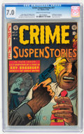 Golden Age (1938-1955):Crime, Crime SuspenStories #17 (EC, 1953) CGC FN/VF 7.0 Cream to off-white pages....