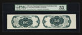 Fractional Currency:Fifth Issue, Fr. 1381 Milton 5DP50R.1 50¢ Fifth Issue Tete-Beche Back Pair PMGAbout Uncirculated 53....