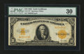 Large Size:Gold Certificates, Fr. 1173 $10 1922 Gold Certificate Star Note PMG Very Fine 30....