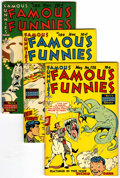 Golden Age (1938-1955):Miscellaneous, Famous Funnies #178, 184, and 185 File Copies Group (Eastern Color, 1949-50) Condition: Average VF/NM.... (Total: 3 )