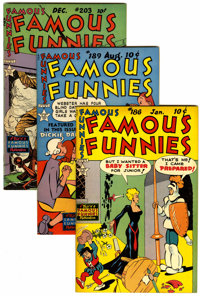 Famous Funnies File Copies Group (Eastern Color, 1950-53) Condition: Average VF/NM.... (Total: 4 )