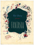 Memorabilia:Disney, Fantasia Souvenir Program with Letter and Mailing Envelope (Disney,1940-42).... (Total: 3 Items)