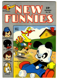 New Funnies #94 File Copy (Dell, 1944) Condition: NM-