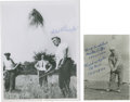 Golf Collectibles:Autographs, 1950's Michael Bonallack & Harry Bradshaw Signed PhotographsLot of 2....
