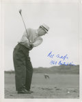 Golf Collectibles:Autographs, 1960's Kel Nagle Signed Photograph....