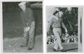 Golf Collectibles:Autographs, 1950's Jerry Barber & Tommy Bolt Signed Photographs Lot of2....