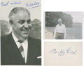 Golf Collectibles:Autographs, 1930's Bill Cox Signed Photograph & Wiffy Cox Signed IndexCard....