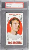 Basketball Cards:Singles (Pre-1970), 1969 Topps Jerry West #90 PSA Mint 9....