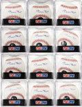 Autographs:Baseballs, 2000's Willie Mays Single Signed Baseballs Lot of 12, PSA Mint+9.5....