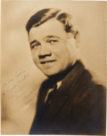 Baseball Collectibles:Photos, 1926 Babe Ruth Signed Photograph. ...