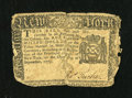 Colonial Notes:New York, New York September 2, 1775 $1 Very Good....