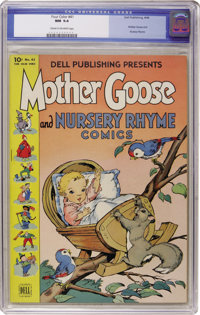 Four Color #41 Mother Goose and Nursery Rhyme (Dell, 1944) CGC NM 9.4 Cream to off-white pages