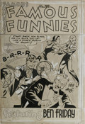 Original Comic Art:Covers, Famous Funnies #196 Cover Original Art (Famous Funnies, 1951)....
