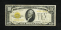 Small Size:Gold Certificates, Fr. 2400 $10 1928 Gold Certificate. Fine-Very Fine.. This $10 Gold has healthy edges for this grade level....