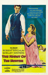 """The Night of the Hunter (United Artists, 1955). One Sheet (27"""" X 41"""")"""