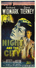 "Movie Posters:Film Noir, Night and the City (20th Century Fox, 1950). Three Sheet (41"" X 81"")...."
