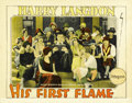 "Movie Posters:Comedy, His First Flame (Pathe', 1927). Lobby Cards (2) (11"" X 14""). ...(Total: 2 Items)"
