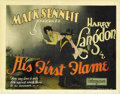 "Movie Posters:Comedy, His First Flame (Pathe', 1927). Title Lobby Card and Lobby Card(11"" X 14""). ... (Total: 2 Items)"