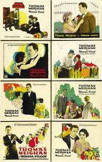 """Woman-Proof (Paramount, 1923). Lobby Card Set of 8 (11"""" X 14""""). ... (Total: 8 Items)"""