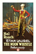 "Movie Posters:Comedy, The Noon Whistle (Hal Roach, 1923). One Sheet (27"" X 41""). ..."
