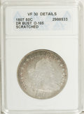 Early Half Dollars: , 1807 50C Draped Bust--Scratched--ANACS. VF30 Details. O-105. NGCCensus: (57/455). PCGS Population (59/440). Mintage: 301,0...