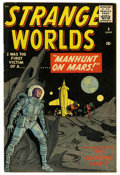 Golden Age (1938-1955):Science Fiction, Strange Worlds #4 (Marvel, 1959) Condition: VF-....