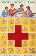 Mainstream Illustration, PAUL MARTIN (American, 20th Century). American Junior Red Cross,poster illustration. Gouache on board. 38 x 26 in.. Not...