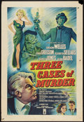 "Movie Posters:Crime, Three Cases of Murder (London Films, 1955). British One Sheet (27""X 40""). Crime.. ..."